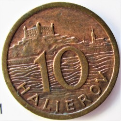 Slovaquia 10 Halierov. 1939. AE. 1,7gr. Ø16mm. EBC-/EBC. KM. 1