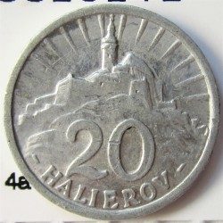 Slovaquia 20 Halierov. 1942. AL. 0,7gr. Ø18mm. EBC+/SC-. KM. 4a