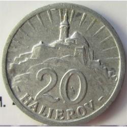 Slovaquia 20 Halierov. 1943. AL. 0,7gr. Ø18mm. MBC/MBC+. KM. 4a