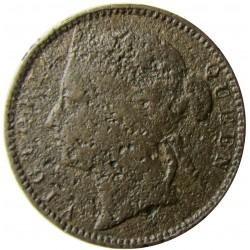 Straits Settlements ¼ Cent. 1884. H-(Heaton). CU. 2,2gr. (Victoria). Ø18mm. MC. ESCASO/A. KM. 7a