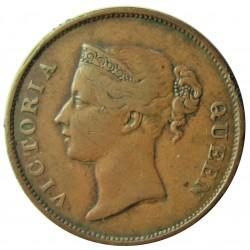 Straits Settlements 1 Cent. 1862. (India Straits). CU. 9,3gr. (Victoria). Ø29mm. MBC-/MBC. ESCASO/A. KM. 6