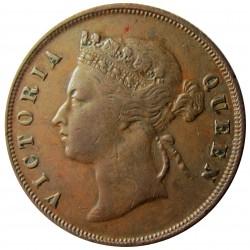 Straits Settlements 1 Cent. 1897. AE. 9,3gr. (Victoria). Ø28mm. MBC. KM. 16