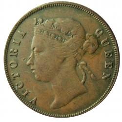 Straits Settlements 1 Cent. 1901. AE. 9,3gr. (Victoria). Ø28mm. MBC. KM. 16