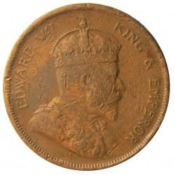 Straits Settlements 1 Cent. 1908. AE. 9,3gr. (Eduardo VII). Ø28mm. MC+. KM. 19