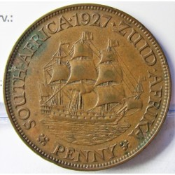 Sudafrica 1 Penny. 1927. CU. 9,5gr. Ø30,5mm. MBC/MBC+. KM. 14.2