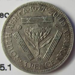 Sudafrica 3 Pence. 1927. AG. 1,41gr. Ley:0,800. (George V). Ø16mm. MBC+. KM. 15.1