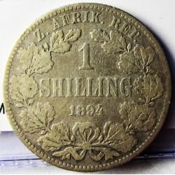 Sudafrica 1 Shilling. 1894. AG. 5,655gr. Ley:0,925. Ø23mm. BC+/MBC-. KM. 5