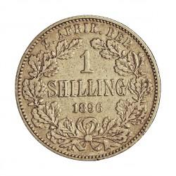 Sudafrica 1 Shilling. 1896. AG. 5,655gr. Ley:0,925. Ø23mm. MBC-/MBC. KM. 5
