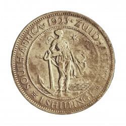 Sudafrica 1 Shilling. 1923. AG. 5,66gr. Ley:0,800. (George V). Ø23mm. MBC. KM. 17.1