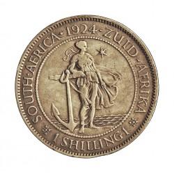 Sudafrica 1 Shilling. 1924. AG. 5,66gr. Ley:0,800. (George V). Ø23mm. MBC. KM. 17.1