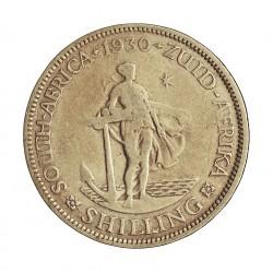 Sudafrica 1 Shilling. 1930. AG. 5,66gr. Ley:0,800. (George V). Ø23mm. MBC-/BC+. KM. 17.2
