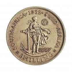 Sudafrica 1 Shilling. 1932. AG. 5,66gr. Ley:0,800. (George V). Ø23mm. MBC. KM. 17.3