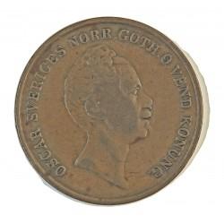 Suecia 2  Skilling. 1847. CU. 18,7gr. Ø33mm. MBC-/MBC. KM. 664