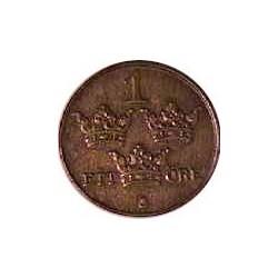 Suecia 1  Ore. 1926. CU. 2gr. Ø16mm. EBC+/SC-. KM. 777.2