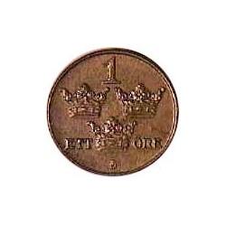 Suecia 1  Ore. 1930. CU. 2gr. Ø16mm. EBC+/SC-. KM. 777.2