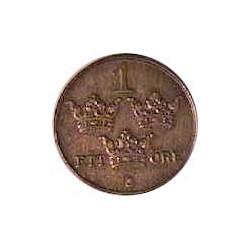 Suecia 1  Ore. 1932. CU. 2gr. Ø16mm. EBC/EBC+. KM. 777.2