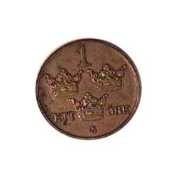 Suecia 1  Ore. 1934. CU. 2gr. Ø16mm. EBC+/SC-. KM. 777.2