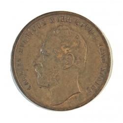 Suecia 2  Ore. 1871. AE. 5,4gr. Ø24mm. EBC+. MUY ESCASO/A. y mas en esta calidad.  KM. 706