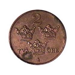 Suecia 2  Ore. 1920. CU. 4gr. Ø21mm. EBC. KM. 778