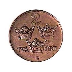 Suecia 2  Ore. 1925. CU. 4gr. Ø21mm. EBC. KM. 778