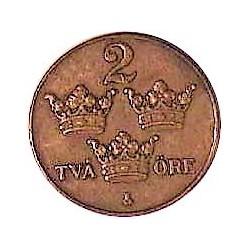 Suecia 2  Ore. 1926. CU. 4gr. Ø21mm. EBC. KM. 778