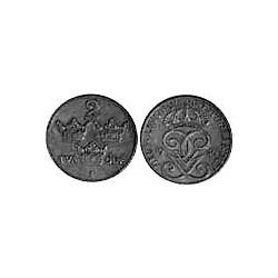 Suecia 2  Ore. 1930. CU. 4gr. Ø21mm. EBC/EBC+. KM. 778