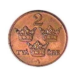 Suecia 2  Ore. 1931. CU. 4gr. Ø21mm. EBC/EBC+. KM. 778