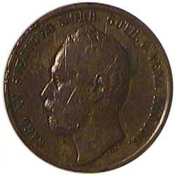 Suecia 5  Ore. 1861. AE. 8,33gr. Ø29mm. MBC-. KM. 707