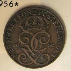 Suecia 5  Ore. 1930. CU. 8gr. Ø27mm. MBC+. KM. 779.2