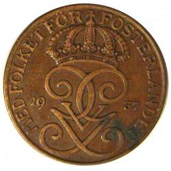 Suecia 5  Ore. 1937. CU. 8gr. Ø27mm. EBC-. KM. 779.2