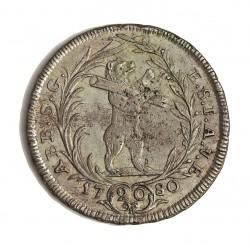 Suiza 20 Kreuzer. 1780. (Canton de St.GALL). AG. 6,45gr. Ley:0,750. Ø29mm. EBC+/SC-. (Lev.porosidad.Tono original). KM. 32