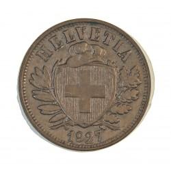 Suiza 2 Rappen. 1927. AE. 2,5gr. Ø20mm. EBC-. MUY ESCASO/A. KM. 4.2a