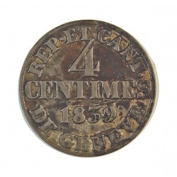Suiza 4 Cts. 1839. (Canton de GINEBRA). VE. 1,7gr. Ø18,5mm. EBC/EBC+. KM. 127