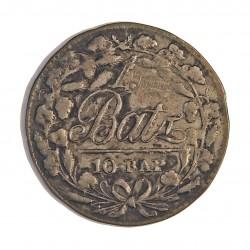 Suiza 10 Rappen. 1810. (1 Batzen). (Canton de VAUD). VE. 2,6gr. Ø25mm. EBC. (Marquitas). KM. 8