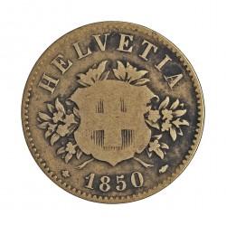 Suiza 20 Rappen. 1850. CUNI. 3gr. Ø21mm. BC-/RC+. KM. 7