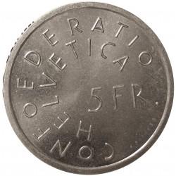 Suiza 5 Francos. 1975. B-(Berna). CUNI. 13,2gr. (Año Protec.Monumentos Europeos). Ø31mm. SC. KM. 53