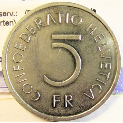 Suiza 5 Francos. 1976. B-(Berna). CUNI. 13,2gr. (500º Anv.Batalla de Murten). Ø31mm. SC. KM. 54