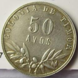 Timor 50 Avos. 1951. AG. 3,5gr. Ley:0,650. Ø20mm. SC-/SC. KM. 7