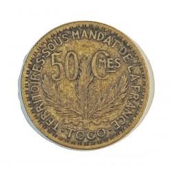 Togo 50 Cts. 1925. (a)-Paris. AL/AE. 2,5gr. Ø18mm. MBC+. (Lev.suciedad). ESCASO/A. KM. 1
