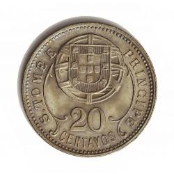 Tome y Principe.-Santo 20  Ctvo.  1929. NI/AE. 4,5gr. Ley:0,000. Ø24mm. FDC. (Tono original). RARO/A. en esta conservacion. KM.