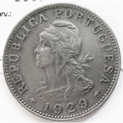 Tome y Principe.-Santo 50  Ctvo.  1929. NI/AE. 10,5gr. Ley:0,000. Ø30mm. MBC-. (Porosidades). KM. 1