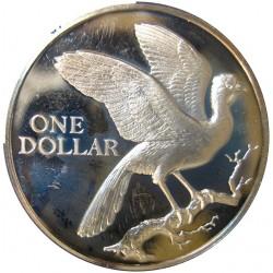 Trinidad y Tobago 1 Dolar. 1975. CUNI. 18,53gr. (Ave en una rama). Ø36mm. PRF. KM. 23