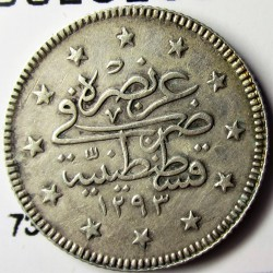 Turquia 2 Kurus. 1907. (1393/33). AG. 2,41gr. Ley:0,830. Ø18mm. MBC+/EBC-. KM. 736