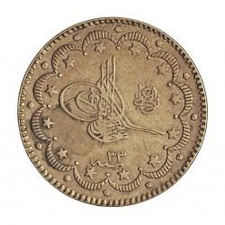 Turquia 10 Kurus. 1907. (1293/33). AG. 12,03gr. Ley:0,830. Ø27mm. MBC/MBC+. (Marquitas). KM. 738