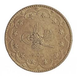 Turquia 20 Kurus. 1927. (1327/9). AG. 24,06gr. Ley:0,830. Ø37mm. MBC+. (Marquitas). KM. 780