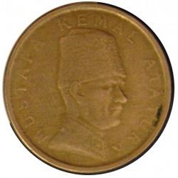 Turquia 100000 Lira. 2000. CUNI. 7,45gr. Ley:0,917. Ø25mm-. MBC. KM. 1078