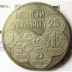 Ukrania 2 Hryunia. 1996. CUNI. 12,8gr. (Monedas Modernas). Ø31mm. SC. KM. 30