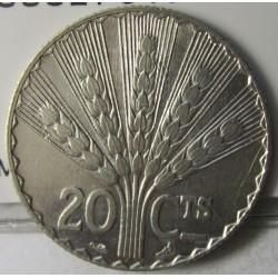 Uruguay 20 Cts. 1930. (a)-Paris. AG. 5gr. Ley:0,500. Ø24mm. MBC+/EBC-. KM. 26