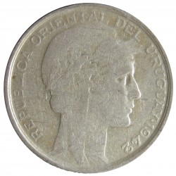 Uruguay 20 Cts. 1942. Sº(Santiago). AG. 3gr. Ley:0,720. Ø19mm. MBC. KM. 29