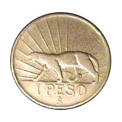 Uruguay 1 Pesos. 1942. Sº(Santiago). AG. 9gr. Ley:0,720. (Artigas). Ø27mm. MBC-. KM. 30